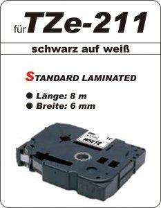 schwarz auf weiß - 100% TZe-211 (6 mm) komp.