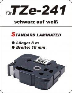 schwarz auf weiß - 100% TZe-241 (18 mm) komp.
