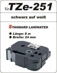 schwarz auf weiß - 100% TZe-251 (24 mm) komp.