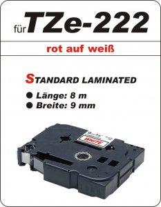 rot auf weiß - 100% TZe-222 (9 mm) komp.