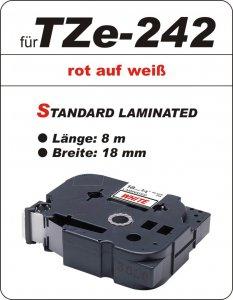 rot auf weiß - 100% TZe-242 (18 mm) komp.