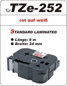 rot auf weiß - 100% TZe-252 (24 mm) komp.