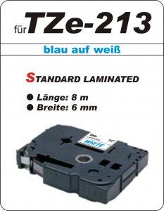blau auf weiß - 100% TZe-213 (6 mm) komp.