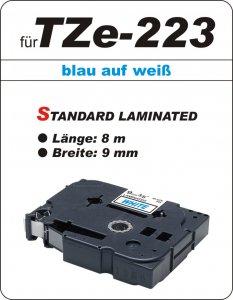 blau auf weiß - 100% TZe-223 (9 mm) komp.
