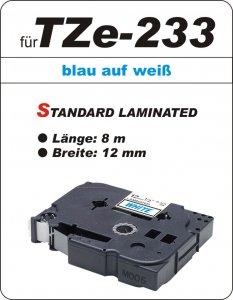 blau auf weiß - 100% TZe-233 (12 mm) komp.