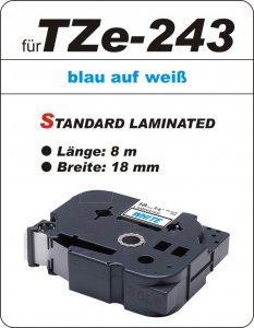 blau auf weiß - 100% TZe-243 (18 mm) komp.