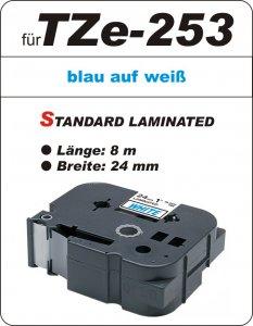 blau auf weiß - 100% TZe-253 (24 mm) komp.