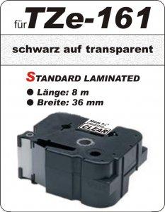 schwarz auf transparent - 100% TZe-161 (36 mm) komp.