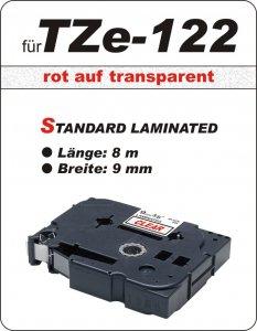 rot auf transparent - 100% TZe-122 (9 mm) komp.
