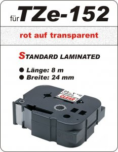 rot auf transparent - 100% TZe-152 (24 mm) komp.