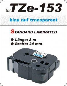blau auf transparent - 100% TZe-153 (24 mm) komp.