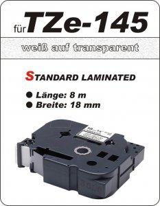 weiß auf transparent - 100% TZe-145 (18 mm) komp.