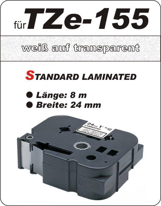 weiß auf transparent - 100% TZe-155 (24 mm) komp.