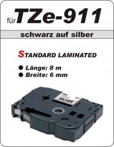 schwarz auf silber - 100% TZe-911 (6 mm) komp.