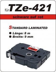 schwarz auf rot - 100% TZe-421 (9 mm) komp.