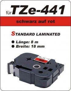 schwarz auf rot - 100% TZe-441 (18 mm) komp.