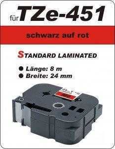 schwarz auf rot - 100% TZe-451 (24 mm) komp.