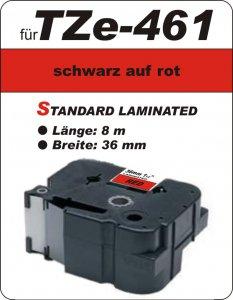 schwarz auf rot - 100% TZe-461 (36 mm) komp.