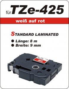 weiß auf rot - 100% TZe-425 (9 mm) komp.