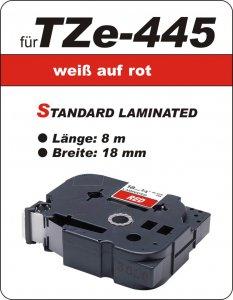 weiß auf rot - 100% TZe-445 (18 mm) komp.