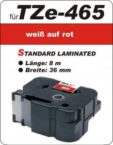 weiß auf rot - 100% TZe-465 (36 mm) komp.