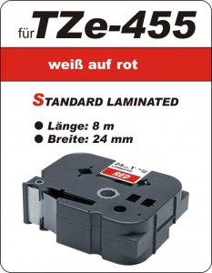 weiß auf rot - 100% TZe-455 (24 mm) komp.
