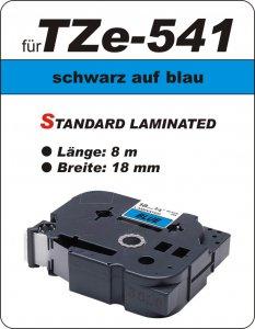 schwarz auf blau - 100% TZe-541 (18 mm) komp.