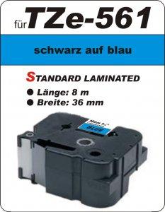 schwarz auf blau - 100% TZe-561 (36 mm) komp.
