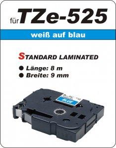 weiß auf blau - 100% TZe-525 (9 mm) komp.