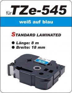 weiß auf blau - 100% TZe-545 (18 mm) komp.