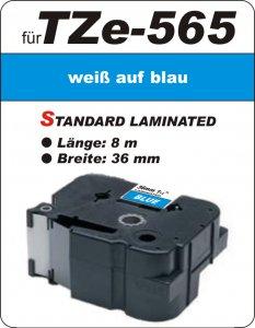 weiß auf blau - 100% TZe-565 (36 mm) komp.