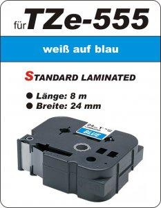 weiß auf blau - 100% TZe-555 (24 mm) komp.
