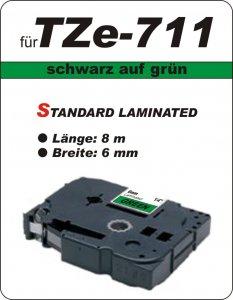 schwarz auf grün - 100% TZe-711 (6 mm) komp.