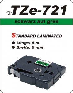 schwarz auf grün - 100% TZe-721 (9 mm) komp.