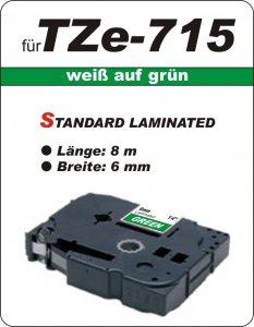 weiß auf grün - 100% TZe-715 (6 mm) komp.