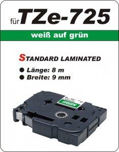 weiß auf grün - 100% TZe-725 (9 mm) komp.