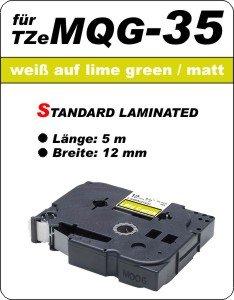 weiß auf apfelgrün (matt) - 100% TZeMQG-35 (12 mm) komp.