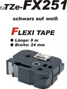 schwarz auf weiß - 100% TZe-FX251 (24 mm) komp.