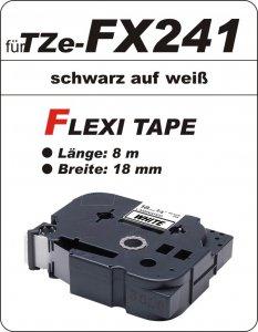 schwarz auf weiß - 100% TZe-FX241 (18 mm) komp.