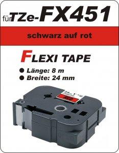 schwarz auf rot - 100% TZe-FX451 (24 mm) komp.
