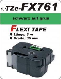 schwarz auf grün - 100% TZe-FX761 (36 mm) komp.