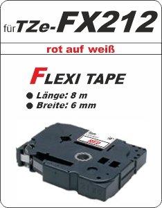 rot auf weiß - 100% TZe-FX212 (6 mm) komp.