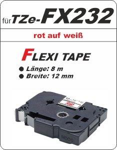 rot auf weiß - 100% TZe-FX232 (12 mm) komp.