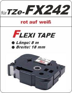 rot auf weiß - 100% TZe-FX242 (18 mm) komp.