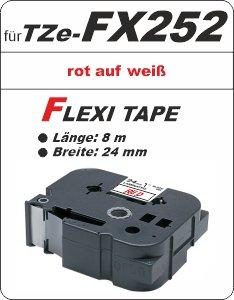 rot auf weiß - 100% TZe-FX252 (24 mm) komp.