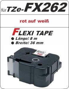 rot auf weiß - 100% TZe-FX262 (36 mm) komp.