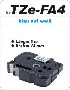 blau auf weiß - 100% TZe-FA4 (18 mm) komp.
