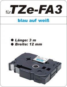 blau auf weiß - 100% TZe-FA3 (12 mm) komp.