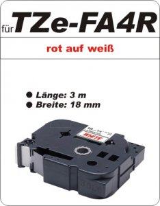 rot auf weiß - 100% TZe-FA4R (18 mm) komp.