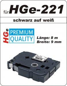 schwarz auf weiß - 100% HGe-221 (9 mm) komp.